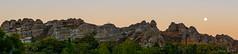 Isalo sunset, Madagascar (NettyA) Tags: 2017 africa hotellajardinduroy isalonationalpark madagascar moonrise pano panorama sandstone sunset travel