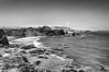 The Nature's Power / El poder de la naturaleza (Carlos Pizarro Photography) Tags: beach marcona sky blanco negro black white bw wind power windmill aerogenerador rock roca stone stones piedras peñasco boulder crag