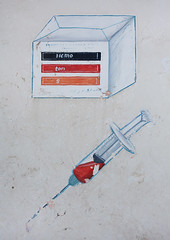 Painted advertisement billboard for a doctor, Woqooyi Galbeed region, Hargeisa, Somaliland (Eric Lafforgue) Tags: advertisement advertising africa billboard bloodtest colourimage commercialsign day developingcountries developingcountry eastafrica graffiti hargaysa hargeisa hargeysa health hornofafrica muralpainting nopeople outdoors paintedimage painting photography soma5538 somalia somaliland street syringe vertical woqooyigalbeedregion