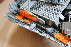 bottom view (Cpt. Ammogeddon) Tags: star wars movie hith snow speeder vehicle space battle ship fan science fiction toy lego moc custom