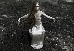 Alone in the garden (R J Poole - The Anima Series) Tags: poole rjpoole lismore nsw australia art photographic fine artist photography prime lens leica leicas medium format portrait portraiture people anima series unusual strange dark low light studio lighting ringlight emotive emotional raw emotion original creative contemporary modern preraphaelite digital photoshop adobe haunting beautiful surreal surrealism artistic innovative jung jungian psychological psychology symbolic symbolism face female feminine storytelling soulful mystery mystic mysterious esoteric gothic goth