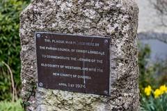 Cumbria 1974 (allybeag) Tags: kirkbylonsdaletrip plaque commemoration cumbria cumberland westmorland kirkbylonsdale