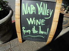 DSC02694 (classroomcamera) Tags: wine wines napa valley barrel barrels sign signs signage black green chalk chalkboard marker markers outside outdoor outdoors shadow shadows shadowy