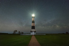 Milky Way Rising at Bodie Lighthouse (Mike Ver Sprill - Milky Way Mike) Tags: milky way galaxy universe bodie island lighthouse light house north carolina obx outer banks astrophotography astronomy stars nightscape night sky nags head