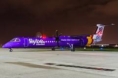 flybe G-JECM HAJ at Night (U. Heinze) Tags: aircraft airlines airways haj hannoverlangenhagenairporthaj eddv planespotting plane flugzeug nikon night