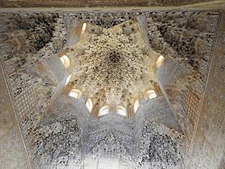Stalactite dome in Alhambra, Granada, Spain
