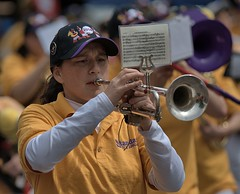 Blowing Her Horn (Scott 97006) Tags: band music trumpet woman female marching