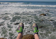 My Feet Were There (jennacunniff) Tags: pacific ocean san diego point loma tide pools converse feet featuring were there green laces galaxy shoes sneakers