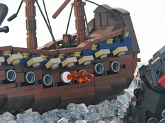 The Secrets of the Abyss (W. Navarre) Tags: lego kraken beast monster sea ship attack cannon abs
