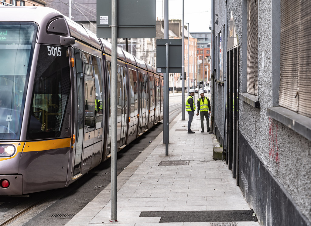 DOMINICK STREET DUBLIN [TRAMS AND TRACKS]-137840