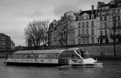 On the Seine (sturkster) Tags: a1200 bw blackwhite canona1200 canonpowershota1200 canon powershot monochrome bateau noiretblanc seine photoscape transport vehicle