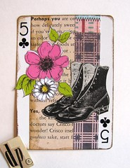 Ankle Shoes (collageDP) Tags: apc atc artcard lateredart collage alteredplayingcard 20s 1920s shoes vintageshoes 20sshoes vintagefashion vintage old