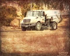 A TYMCO Model 600 Street Sweeper keeping Moab's Dusty City Streets Clean (PhotosToArtByMike) Tags: tymco tymcomodel600 streetsweeper moabutah moab truck utah ut mainstreet easternutah archesnationalpark canyonlandsnationalpark grandcounty