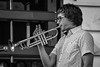 Single-Hand Technique (tim.perdue) Tags: microphone profile brass horn 18140mm nikkor d7200 nikon monochrome bw white black performer musician rb funk soul band performance concert ohio gahanna summer festival blues jazz creekside trumpeter player trumpet handed one technique hand single