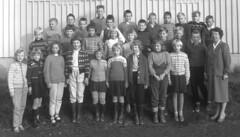 Class photo (theirhistory) Tags: boys kids school class form group teacher girl dress skirt shoes jumper sandals wellies boots