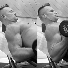 incline curls (ddman_70) Tags: shirtless gym workout biceps curls pecs