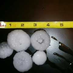 June 18, 2018 - Massive hail in Thornton. (Cindy Kihorany)