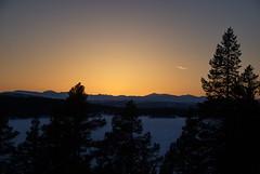 Mot Jotunheimen -|- Local sundown (erlingsi) Tags: fefor vinstra feforosen feforvatn påske norway sunset sundown solnedgang