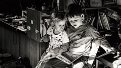 Readers (I.Dostál) Tags: read reading kids kid child children together couple twogether