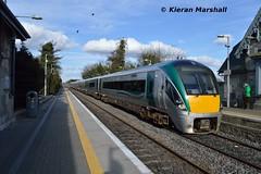 22012+22057 arrive at Portlaoise, 24/3/18 (hurricanemk1c) Tags: railways railway train trains irish rail irishrail iarnród éireann iarnródéireann portlaoise 2018 22000 rotem icr rok 4pce 22012 cualagaa matchspecial 1430dalkeyportlaoise