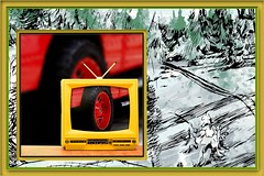 Off road (MoparMadman63) Tags: abstract colorful offroad tire wheel red yellow tv television illusion photoshop creative frame automotive truck