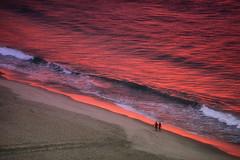 Romance (yan08865) Tags: ocean sea brazil water people sand waves nature sunrise beach wave landscapes travel pavlis earth copacabana ipanema flow above