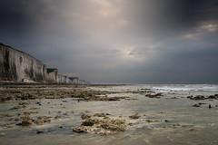 Ault, Low Tide (Tony N.) Tags: france baiedesomme ault vimeu hautsdefrance nord nordpasdecalais pasdecalais falaises cliffs manche sea seascape seashore rivage shores lowtide maréebasse craie chalk mer sky ciel nuages clouds cloudy nisi nikkor1635f4 vanguard nikon d810 tonyn tonynunkovics picardie