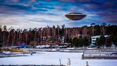 Unforeseen (ristoranta) Tags: lumi winter jää talvi nikond7100tamron16300mmf3563 watertower vesitorni snow haukilahti ice ufo