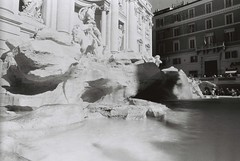Trevi Fountain (goodfella2459) Tags: nikon f4 af nikkor 24mm f28d lens adox scala 160 35mm blackandwhite reversal film analog roma trevi fountain water city landmark italy rome bwfp