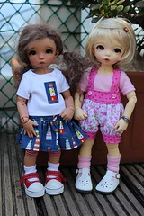 I love these girls.... (dambuster01) Tags: fairyland littlefee ante tanned normal sewing sewingbysharoninspain bjds tiny tinies yosd vainilladolly customfaceup