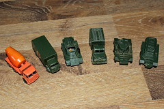 A small collection of vintage Matchbox cars (Davydutchy) Tags: matchbox lesney moko england diecast model modell scale schaalmodel 175 series boy toy car vehicle voiture auto spielzeug speelgoed speelgoedauto jouet playworn ford military ambulance daimler ferret scout austin mk 2 radio truck lkw vrachtwagen lorry saladin armoured armored saracen personnel carrier april 2018