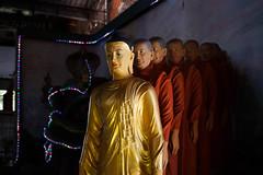 Yangon, Myanmar (jaumescar) Tags: yangon myanmar burma budha buddha budism statue many decoration pagoda religion spiritual repetition monks light interior travel