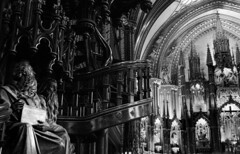 Looking to God (Livid Moments) Tags: montreal canada cathedral blackandwhite contrast photography travel detail historic wandering nikond3200 nikon digital photoshop architecture perspective