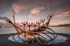 The Sun Voyager (Sizun Eye) Tags: sunvoyager reykjavik capital iceland sculpture dreamboat sun sizuneye nikond750 tamron2470mmf28