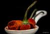 Macro Mondays - Condiment (Magda Banach) Tags: canon canon80d condiment macromondays sigma150mmf28apomacrodghsm blackbackground chillipepper colors food macro macromonday nature red