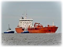 """Sten Frigg"" On Lough Foyle. (willieguildea) Tags: ship boat tanker water waterscape river lough loughfoyle ireland eire ulster donegal seascape nikon vessel sky sea"
