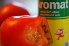 Aromat on Tomato (markus_kaeppeli) Tags: macromondays condiment hmm