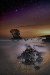 Moonstone (Robalabob1) Tags: porth post anglesey wales seascape waterscape landscape tide stack long exposure night astro astrophotography stars light rock