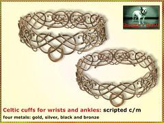 Bliensen - Celtic cuffs (Plurabelle Laszlo of Bliensen + MaiTai) Tags: cuffs bdsm shackles manacles bondage xxxevent slave gorean sl secondlife bliensenmaitai