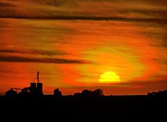 Sunset (Ray Cunningham) Tags: sunset station illinois bongard