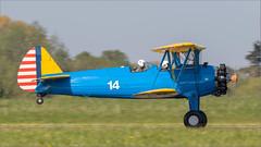 USAAC Boeing A.75N1 Stearman G-ISDN '14' (Hugh Dodson) Tags: abingdonairshow usaac boeinga75n1 stearman gisdn 14