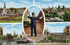 A P.C. From London postcard, 1950s (The Wright Archive) Tags: london vintage postcard valentine sons ltd valesque policeman 1958 1950s buckingham palace toweroflondon housesofparliament westminsterabbey metropolitanpoliceservice bobbies coppers londonpolice policeofficer themet metropolitanpolice