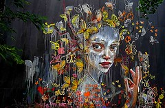 Berlin 2018.06.11. Mural 9.4 - Artists HERAKUT, Germany - Postdam 2016 (Rainer Pidun) Tags: mural streetart urbanart publicart berlin