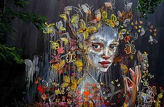 Berlin 2018.06.11. Mural 9.4 - Artists HERAKUT, Germany - Postdam 2016