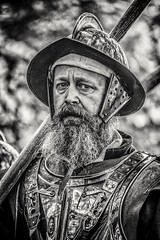 Man, Metal and Whiskers (Andy J Newman) Tags: war bristol civil civilwar d500 nikon reenactment longashton england unitedkingdom gb man beard armour soldier old oldman sealedknot sealed knot