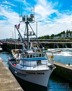 Harbor Gem Leaving the Hiram M. Chittenden Locks