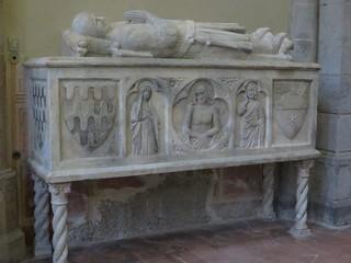 Sarcophage Cabano, basilique gothique Santa Chiara (XIVe), via Benedetto Corce, Naples, Campanie, Italie.