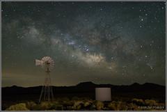 The Aermotor 1079 (maguire33@verizon.net) Tags: aermotor california lll milkyway mojavedesert mojavenationalpreserve galaxy stars windmill