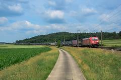 DB Cargo 185 332, Mitteldachstetten (Sander Brands) Tags: trein treni train treno trenuri trenuro traktion traxx güterzug rail railfanning green cargo nikon d7000 kbs 920 würzburg ansbach treuchtlingen klv walter