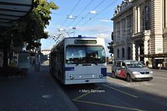 Trolleybus NAW BT-25 n°790 en service sur la ligne 9. © Marc Germann (Marc Germann) Tags: trolleybus naw bt25 bus remorques convois retrobus hesskiepe hesskièpe nawhess nawhesssiemens nawfbw rétrobus par brise routes arbres autobus lions city articulation man hess transports publics tl lausanne